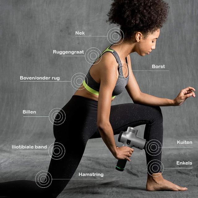 Target alle spieren met massage gun